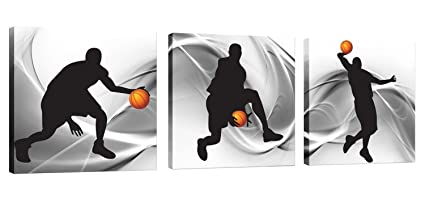 Natural Art U2013 Basketball Sports Themed Canvas Wall Art For Boys Room Baby  Nursery Décor Kids