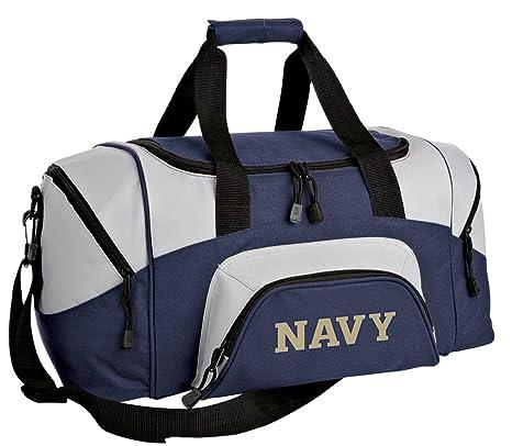 a57cf58853fb Amazon.com : Broad Bay Small Naval Academy Gym Bag Deluxe USNA Navy ...