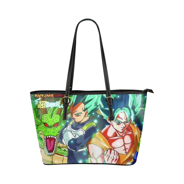 Japanese Anime Dragon Ball Z Super Cool Goku Women's Leather Tote Large Bag/Handbag/Shoulder Bag By Boom~Shakalaka
