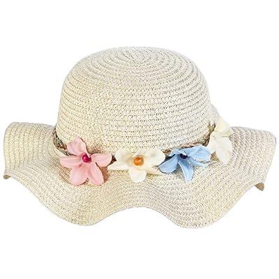 Cdet Chapeau de Paille Anti-soleil Respirant mignon fleur soleil chapeau chapeau de paille Anti UV Casquettes pour été loisirs