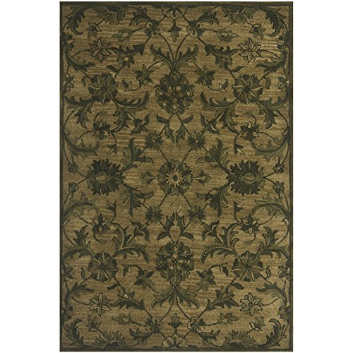 (Safavieh Antiquities Collection AT824A Handmade Traditional Olive and Green Wool Area Rug (4' x)