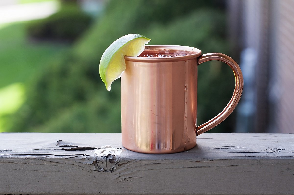 Copper Mug for Moscow Mules – 12 oz size