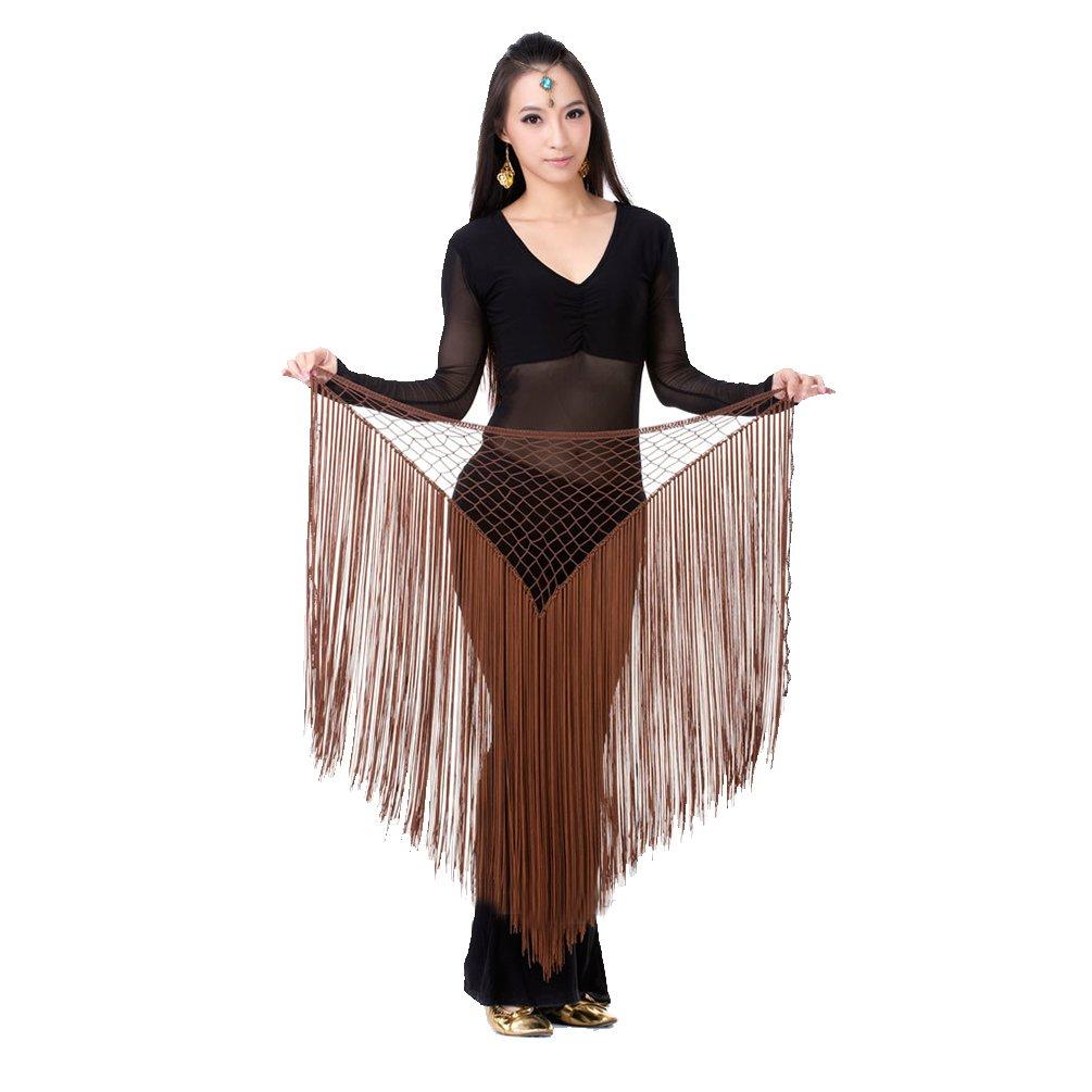 SunWanyi Damen Belly Dance Bauchtanz Kost/üm Tribal Triangle Pailletten Quaste H/üfttuch Rock G/ürtel