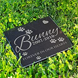 Personalized Dog Memorial Customized Dog Grave Marker Custom Headstone - DSG#8 - Aged Granite