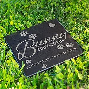 Lara Laser Works Personalized Dog Memorial Customized Dog Grave Marker Custom Headstone - DSG#8 - Aged Granite 49