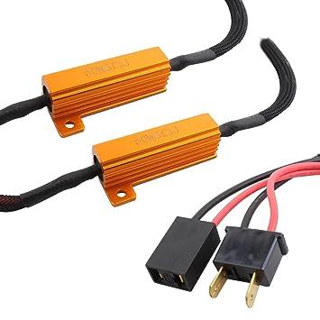 TOMALL H7 LED decodificador de resistencias para LED Kit de conversión de bombillas de faros: Amazon.es: Coche y moto