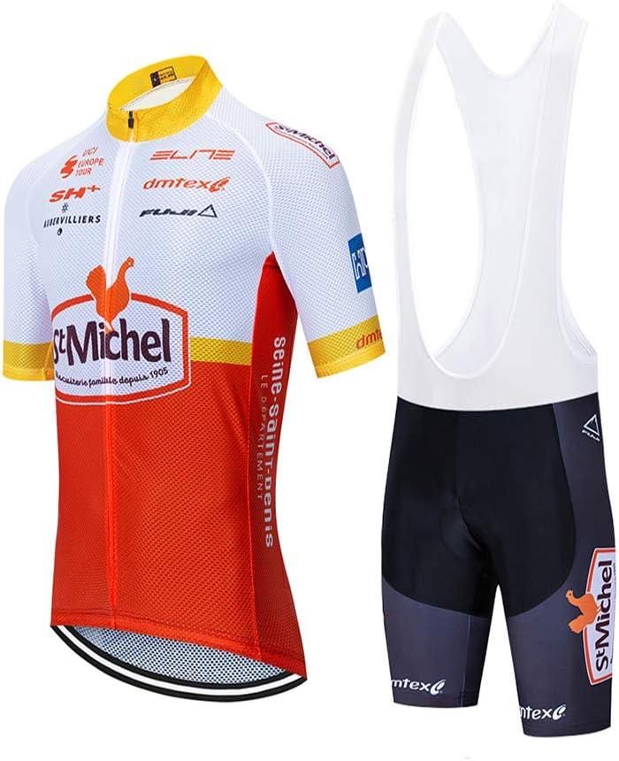 Maillot Ciclismo Manga Corta Conjunto Traje MTB y Culotte Pantalones Cortos con 5D Acolchado XIAKE Ropa Ciclismo Hombre Verano