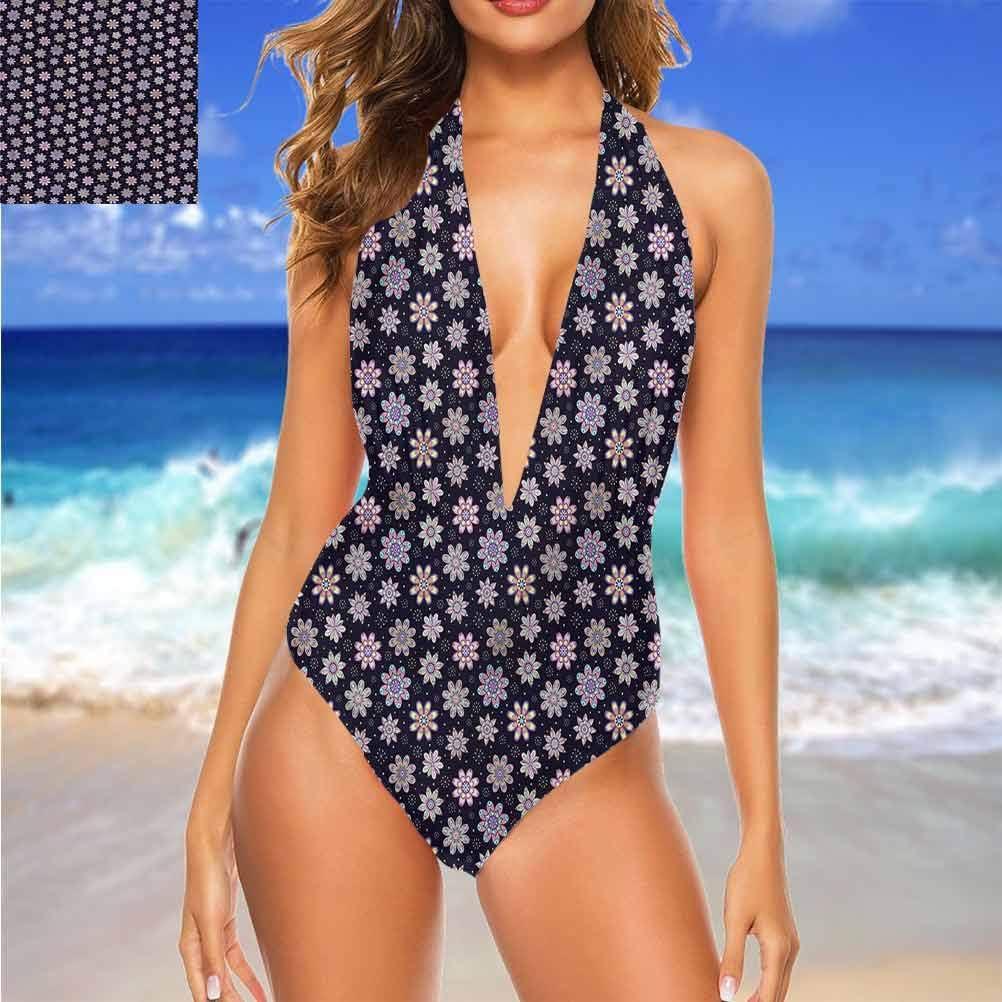 Beachwear Fleur Pastel Tonique Blueberries Grande pièce tendance Multi 18