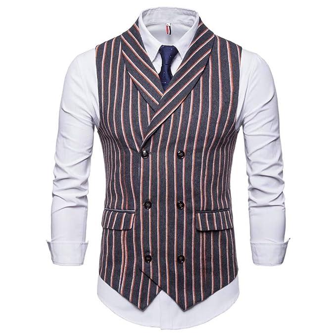 Amazon.com: Chaleco para hombre Blazer,Fashion sin mangas a ...
