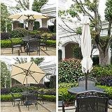 Abba Patio 9 Ft Market Outdoor Aluminum Table Patio Umbrella with Push Button Tilt and Crank, Beige
