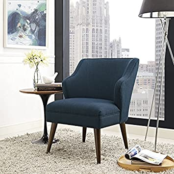 Modway Swell Upholstered Fabric Armchair in Azure