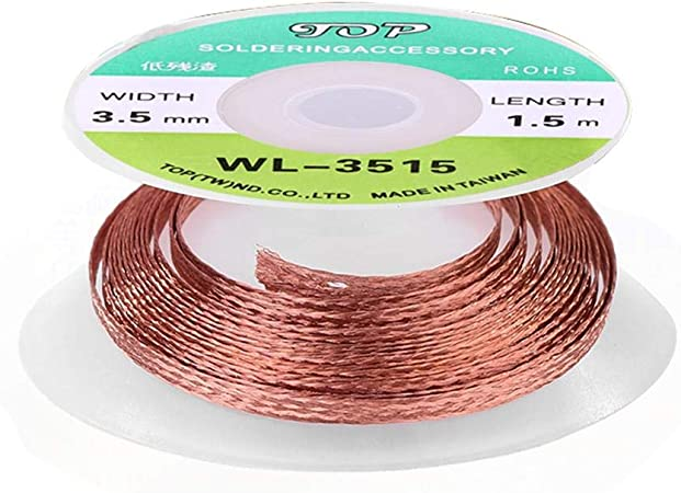 3.5mm 1.5M Repair Tool Desoldering Braid Solder Remover Wick Wire