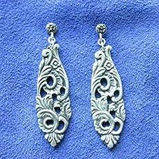 aa8fa3a0a Amazon.com: Spoon Earrings,Silverware Earrings,Repurposed Silverware ...