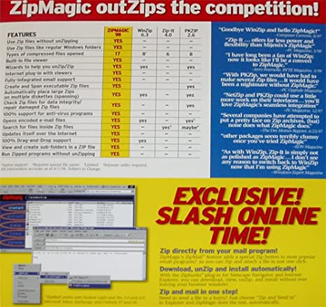 Amazon com: ZipMagic 98 The Next Generation Zip Utility