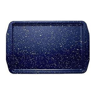 Paula Deen Speckle Bakeware 10-Inch x 15-Inch Cookie Sheet, Deep Sea Blue Speckle