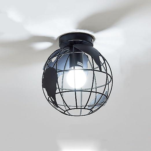 Tierra Mini Lámpara de Techo Lámpara de Techo Moderna Jaula de ...