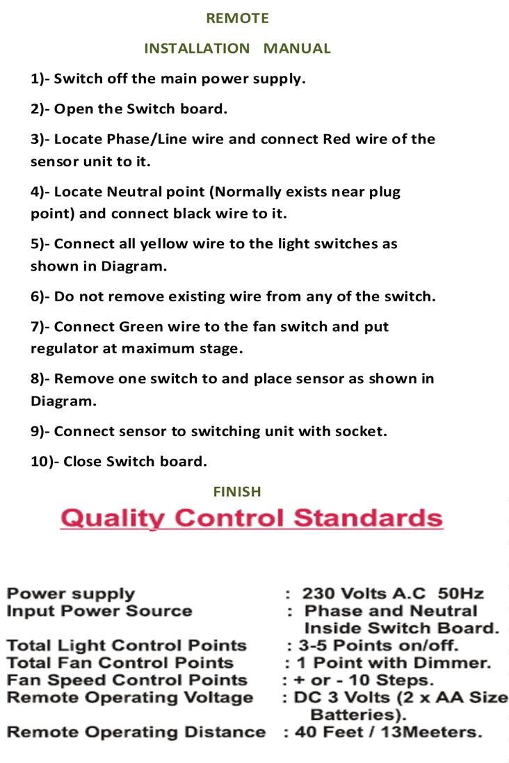 Wireless Remote Operated Electrical Switch Modular Type For 5 Light To And Fan Wiring Diagram 1 2 Black Home Improvement