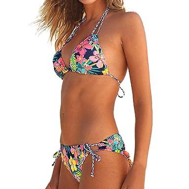 Maillots de Bain Femme Robemon✬Sexy Fille Brassièrezilian Bikini Set Plage  Vêtements Surf Halter Vest Tops Swimsuit Plage De Baignade Suit  Amazon.fr   ... 669d32c57bf