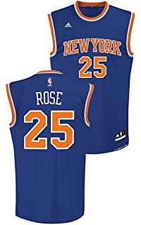 9dc3c4f256d ... White 1 Youth Derrick Rose New York Knicks Replica Basketball Jersey by  Adidas (L14- ...
