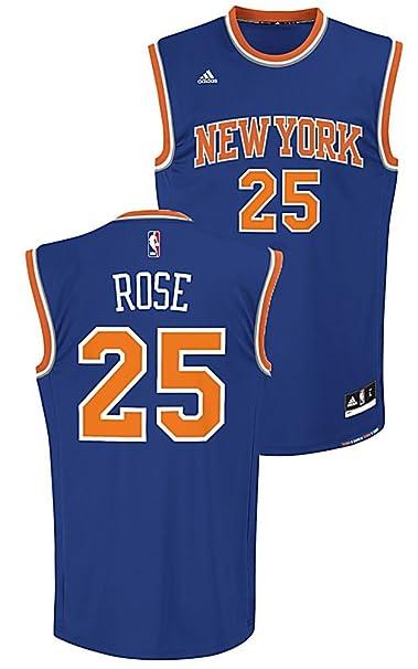 4d17ea4f8 Amazon.com   Youth Derrick Rose New York Knicks Replica Basketball Jersey  by Adidas (M 10-12)   Sports Fan Basketball Jerseys   Sports   Outdoors