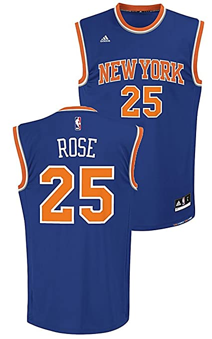 sports shoes 9571e a07af adidas Youth Derrick Rose New York Knicks Replica Basketball Jersey by