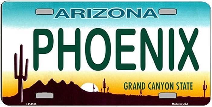 ROADRUNNER Arizona Novelty State Background Aluminum License Plate Tag