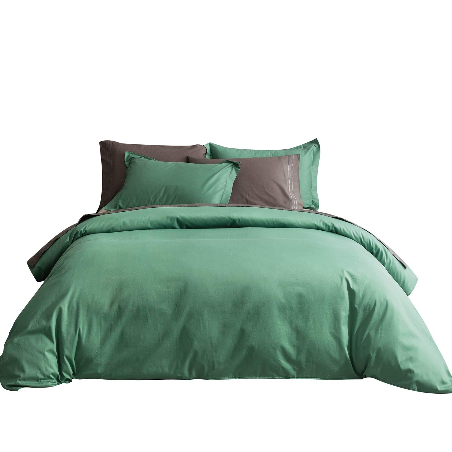 SUSYBAO 2 Pieces Duvet Cover Set 100% Natural Cotton Twin/Single Size 1 Duvet Cover 1 Pillow Sham Solid White Hotel Quality Ultra Soft Breathable Comfortable Extremely Durable Bedding with Zipper Ties SZJRQC2017041003