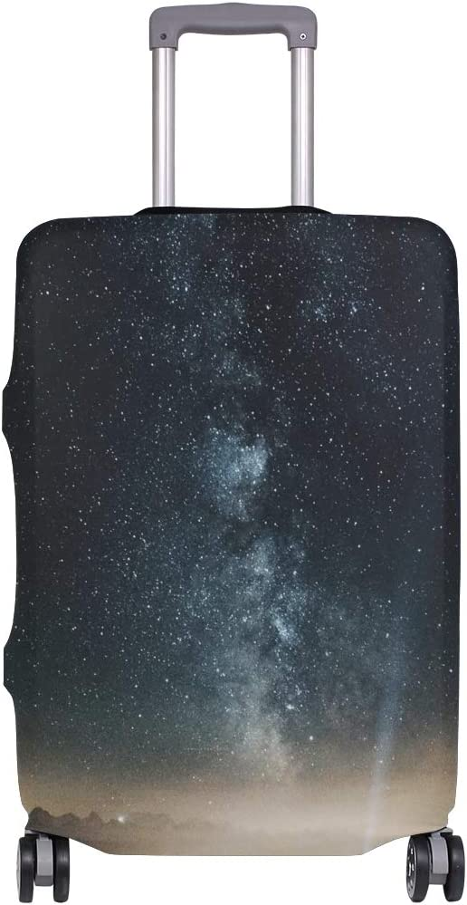 Night Galaxy Space Sky Milky Way Luggage Cover Accessories Suitcase Protector Elastic Fits 26-28 Inch Travel