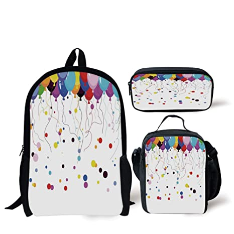 86d619243551 Amazon.com: School Lunch Pen Bags,Abstract,Bunch of Various Colored ...