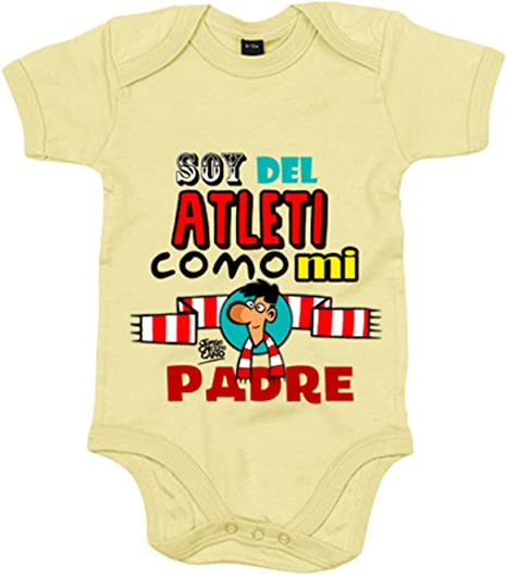 Amarillo Body beb/é Atl/ético de Madrid soy del atleti como mi abuela 6-12 meses