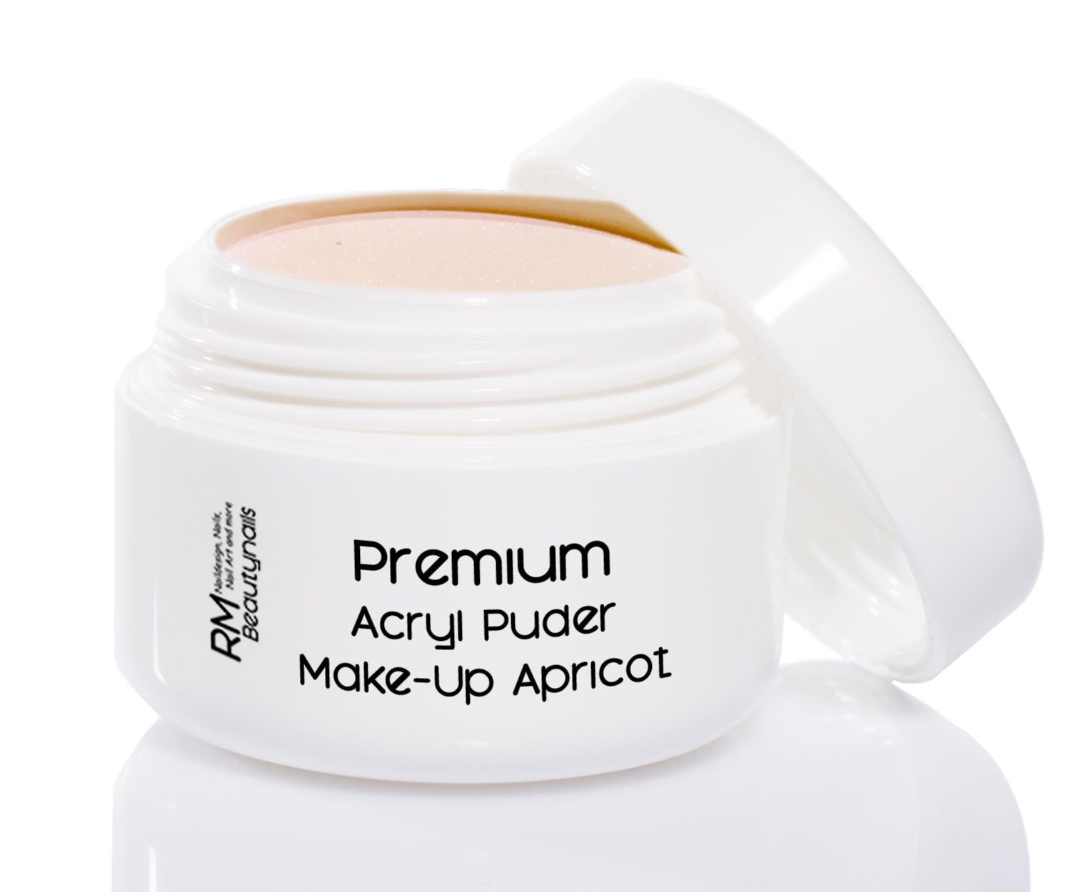 35g Acryl Puder Apricot Make Up Cover Camouflage in Studio Qualität RM Beautynails