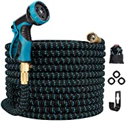 Gpeng Garden Hose Expandable Water Hose, Leakproof Lightweight Retractable Collapsible Hose with 9 Function Sp