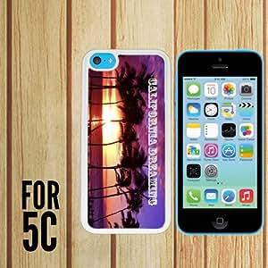 California soñando Custom Made Case/cubierta/piel para Apple Iphone 5C–Color blanco–carcasa de goma (barco de CA)