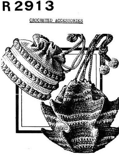 Crocheted Pagoda Bag & Round Handbags Crochet Purse Patterns