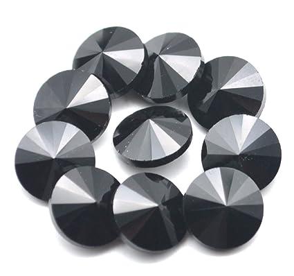 4f5bc3f37b Catotrem Crystal Stones Round Fancy Glass Rhinestone Beads for DIY Dress  Jewelry Making 100pcs(Black-12mm)