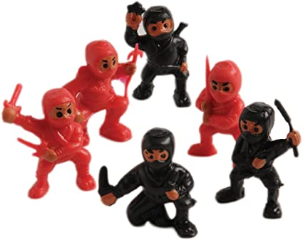 US Toy Lot of 12 Assorted Ninja Action Figure Toys