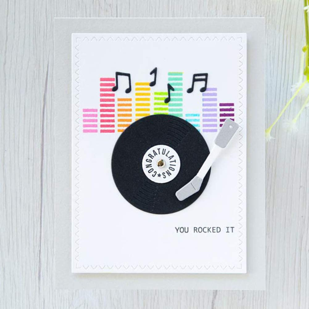 Phonograph Cutting Dies Stamp DIY Scrapbooking Paper Cards Photo Album Decor Craft Embossing Stencil Punching Template Gifts Cutting Dies Gemini/_mall Cutting Dies for Card Making