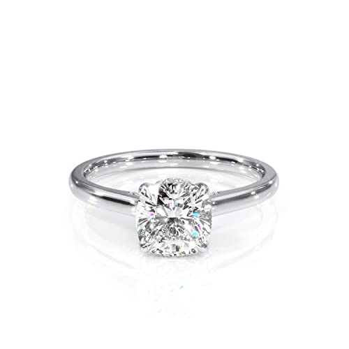 6efe1ba114a0f Amazon.com: 1.35ctw Designer Cushion Moissanite and Diamond Ring ...