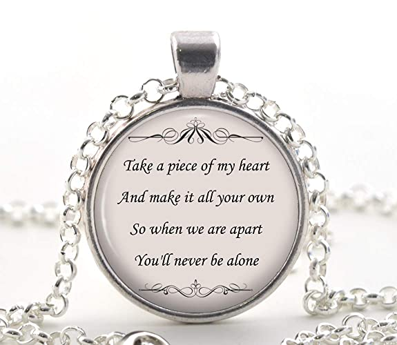 Shawn Mendes Song Lyric Quote Necklace - Never Be Alone Friendship
