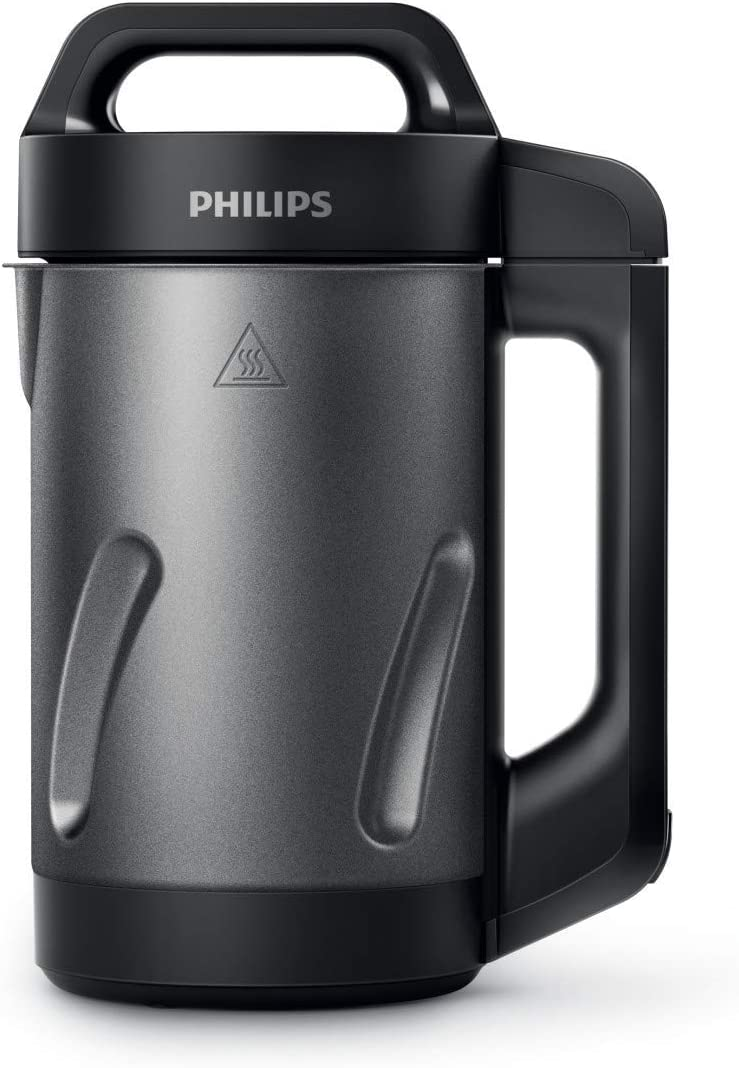 Philips Kitchen HR2204/70 Viva Collection Soup Maker Philips, 1.2 liters, Black and Stainless Steel (Renewed)