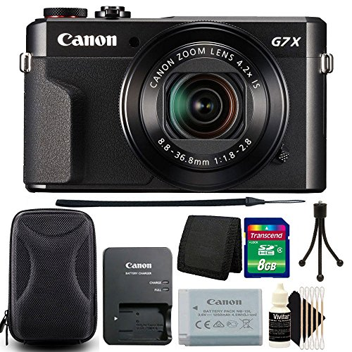 Canon G7X Mark II PowerShot 20.1MP Digital Camera  + 8GB Mem