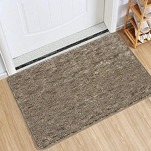 Indoor Doormat Front Door Mat Non Slip Rubber Backing Super Absorbent Mud And Snow Magic Inside Dirts Trapper Mats Entrance Door Rug Shoes Scraper Machine Washable Rug Carpet Coffee 24 X 36 Home Kitchen Amazon Com