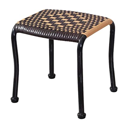 Amazing Amazon Com Flhainver Rattan Stool Plastic Stool Small Seat Ibusinesslaw Wood Chair Design Ideas Ibusinesslaworg