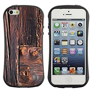 Suave TPU GEL Carcasa Funda Silicona Blando Estuche Caso de protección (para) Apple Iphone 5 / 5S / CECELL Phone case / / Rustic Lines Architecture Carpenter /