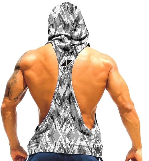 Cabeen Hommes Gym Culturisme D/ébardeurs /à Capuche Bodybuilding Musculation Tank Tops