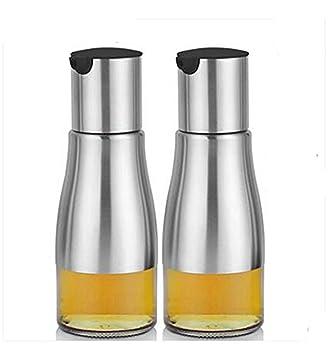 Essig öl Spender fyuan 11 unzen edelstahl und glas ölflasche behälter für sojasoßen