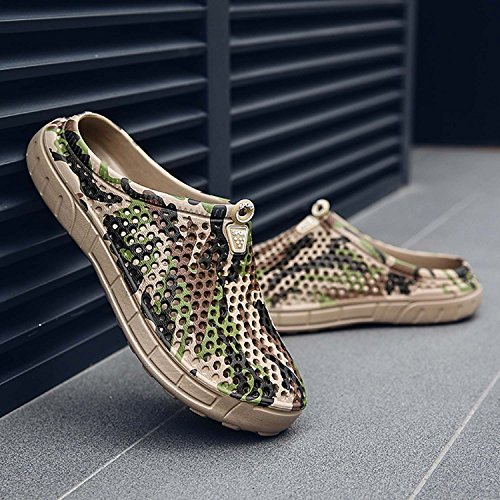 Mule Footwear Brown Sandals camo HMAIBO Women's Slippers Water Men's Garden Breathable Clogs Shoes wqxfPUxYv