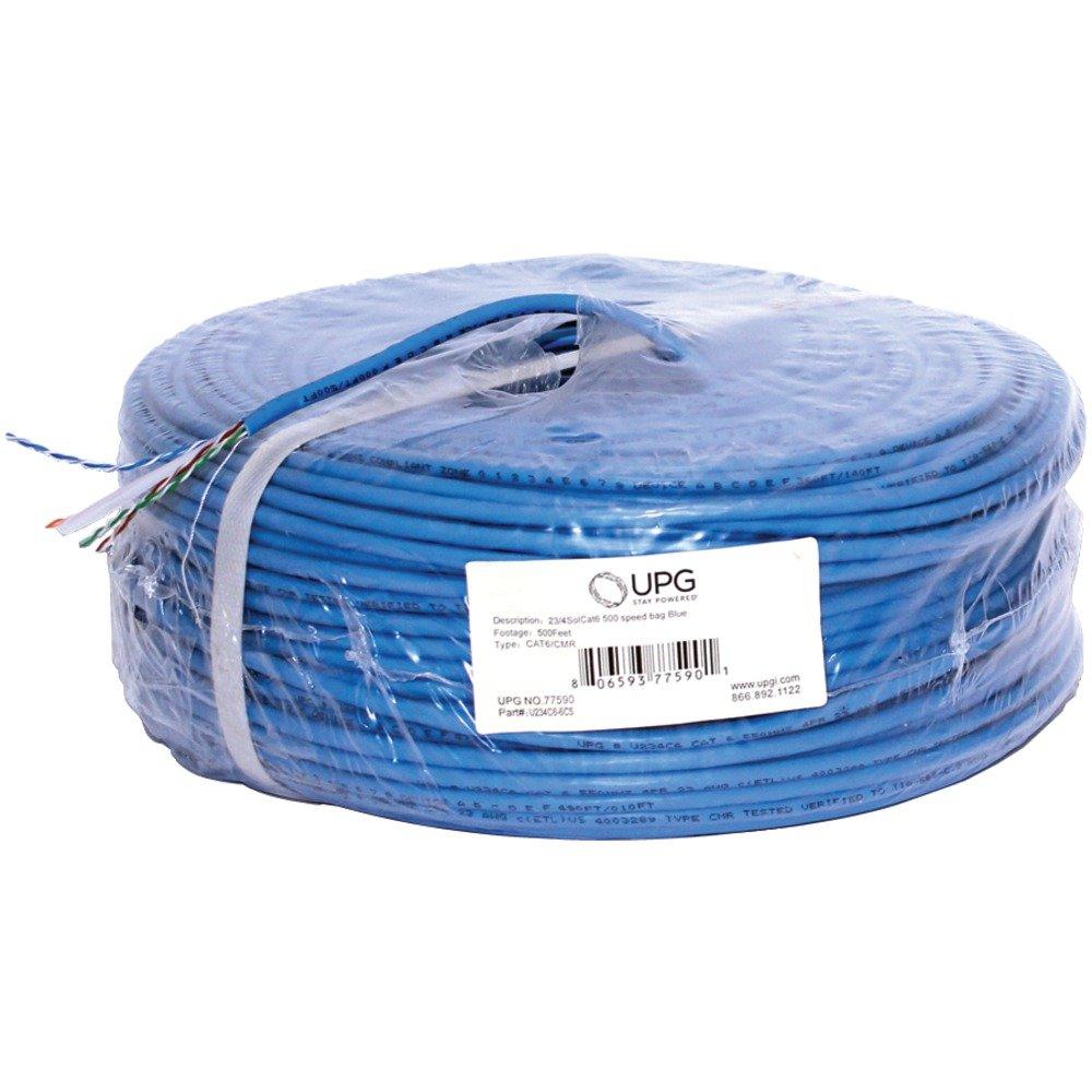 Amazon.com : CAT6 CBL 500FT BLU, 23-Gauge CAT-6 Cable, 500ft (Blue ...
