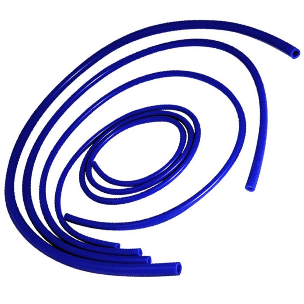 Upgr8 Universal 4mm//6mm//8mm//12mm Inner Diameter High Performance Silicone Vacuum Hose Kit Blue