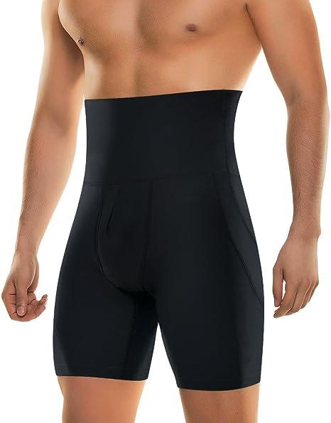 Men Compression High Waist Boxer Shorts Tummy Slim Body Shaper Girdle Pants